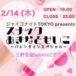 2/14『スナック あきなとせいこ~バレンタインスペシャル~』